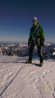 Summit of Aiguille d'Argentiere.