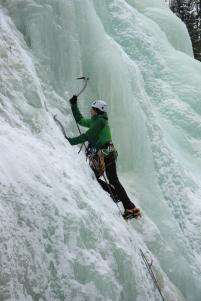 Ice climbing in Rjukan, Norway