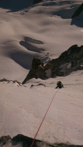 Myself on the north face of La Tour Ronde.