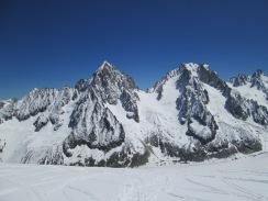 Aiguille du Chardonnet (3824m) and Aiguille d'Argentiere (3902m)