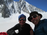 Myself and Efe in Argentiere hut.