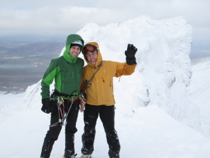 "Happier moments - after succesful climb of ""Doctor's Choice""."