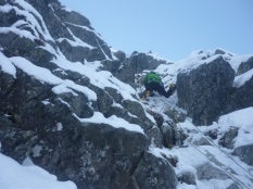 Winter climbing in the Tatra Mountains, Poland