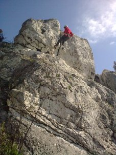 Rock climbing in Rzedkowice, Poland