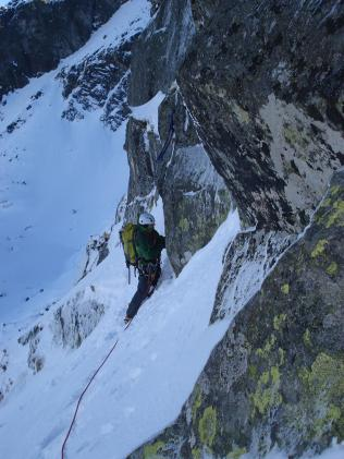 Winter climbing in the Tatras