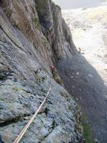 Great Bow Combination (HVS, 5a) at Cloggy, North Wales