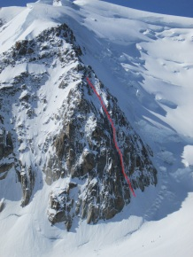 Triangle du Tacul (3970m) with Chere Couloir (II, 4)