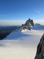Aiguille du Midi in the morning sun:)