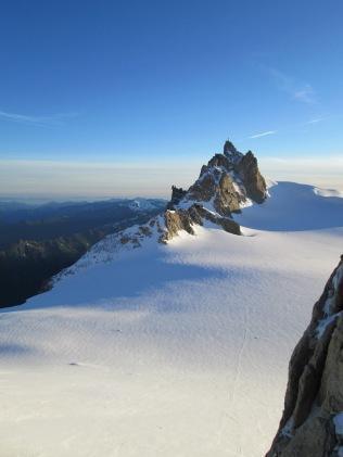 Aiguille du Midi in the morning sun:)