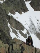 Myself enjoying the sunny day (before another storm), Aiguilles Rouges near Chamonix