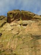 """""""The Sloth"""" (HVS, 5a), Roaches, Peak District"""