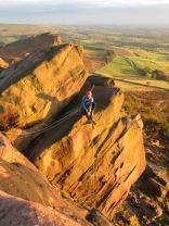 Ian Pegg enjoying an evening sun at the Roaches