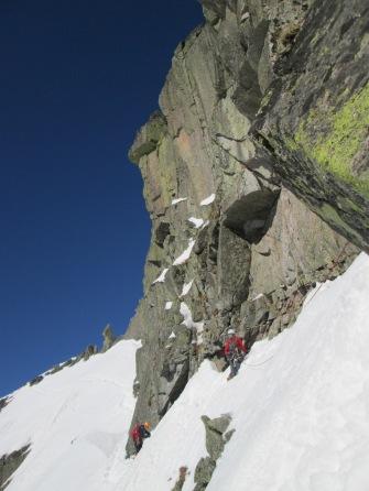 Winter climbing in the Tatra Mountains, Poland