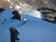 Myself on the final snow slope of Pequeno Alpamayo (5370m, AD)
