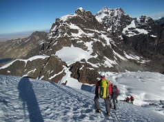 Descent from Pequeno Alpamayo