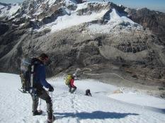 Derek Bucle, myself and John da Silva descending PK5661