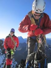 John and Derek at the summit of Pequeno Alpamayo