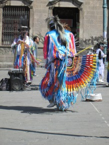 Inca musicians in La Paz