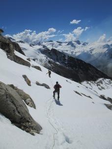 Derek Bucle and John da Silva descending from Calzada