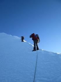 Nick Berry and Derek Buckle on the ridge