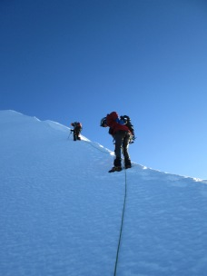 Nick Berry and Derek Buckle on the ridge