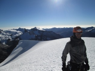 Nick Berry at the summit of PK5661
