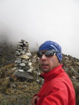 Lonely trekking in the Andes