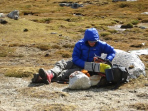 Nick Berry in the base camp