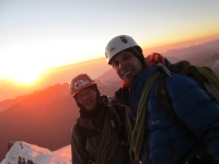 Nick Berry and myself at the summit of Huayana Potosi (6088m)
