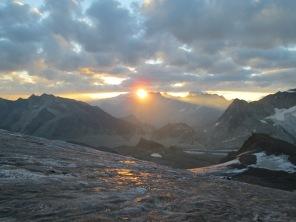 Sunrise in Valais Alps, Switzerland