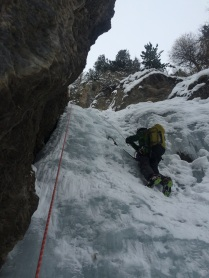 Myself climbing in Ceillac
