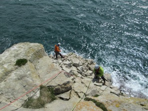 Michael and Rich belaying