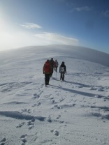 Winter walking in Fagaras Mountains