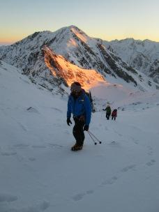 Nick on his way to Negoiu peak