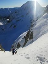 Jonathan climbing Negoiu peak