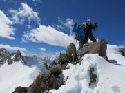 Summit of the Tsagtug Kangri, East Karakoram (6078m, first ascent)