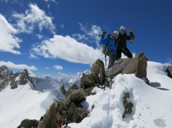 Summit of the Tsagtug Kangri, East Karakoram (6078m, first ascent)